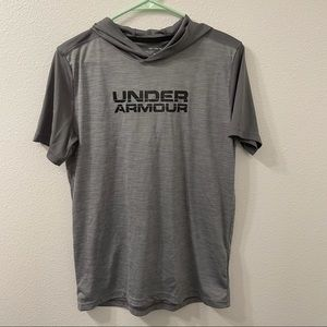 Under Armour short sleeve lightweight hoodie gray
